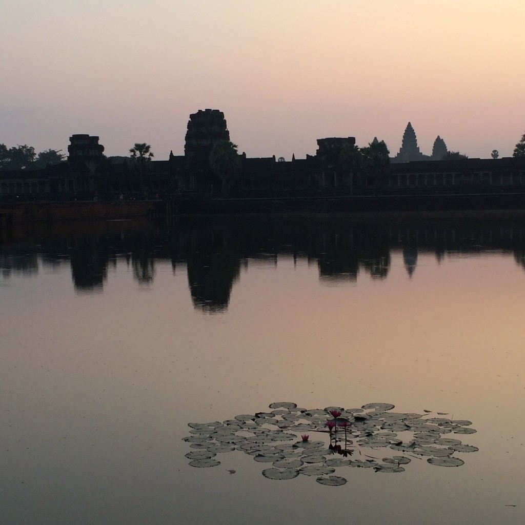 Angkor Wat, Siem Reap, Cambodia, sunrise, reflection