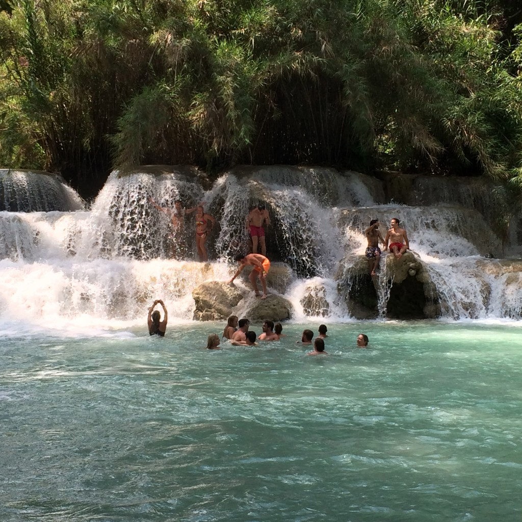 Tat Kuang Si waterfalls, Luang Prabang, Laos, waterfall