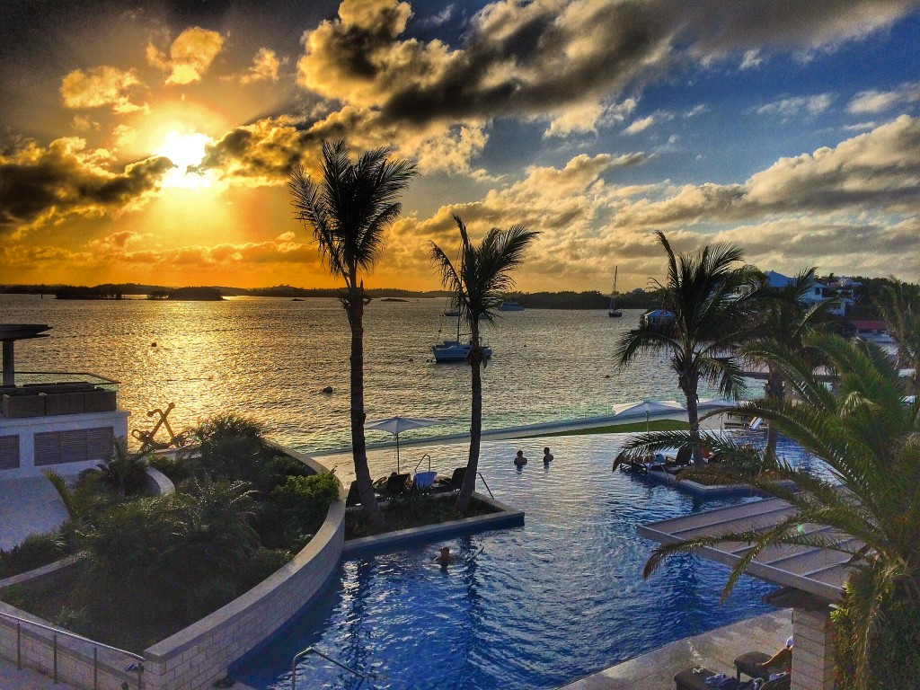 Fairmont, Hamilton Princess, Bermuda, sunset, pool