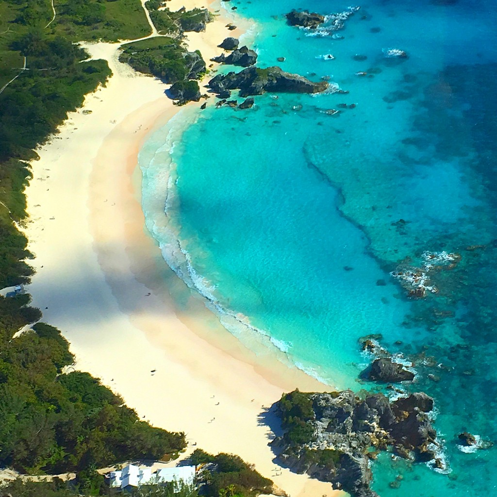 Horseshoe Bay Beach, Bermuda, scenic flight