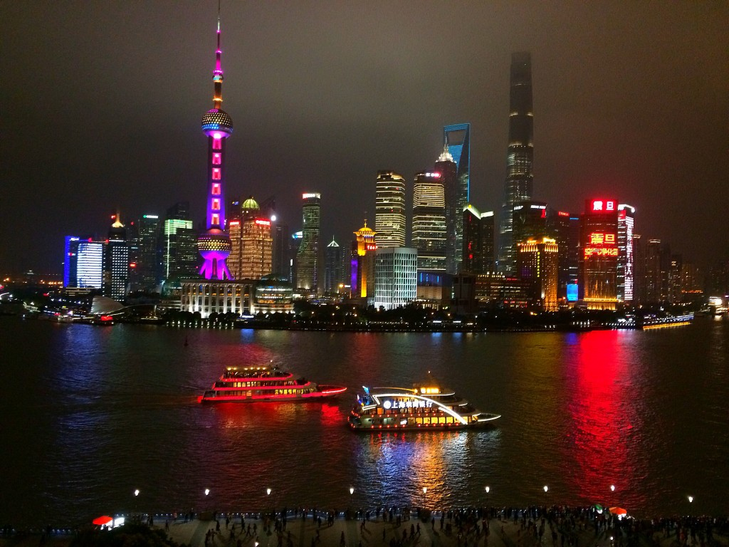The Bund, Fairmont Peace Hotel, Shanghai, China, Pudong, skyline