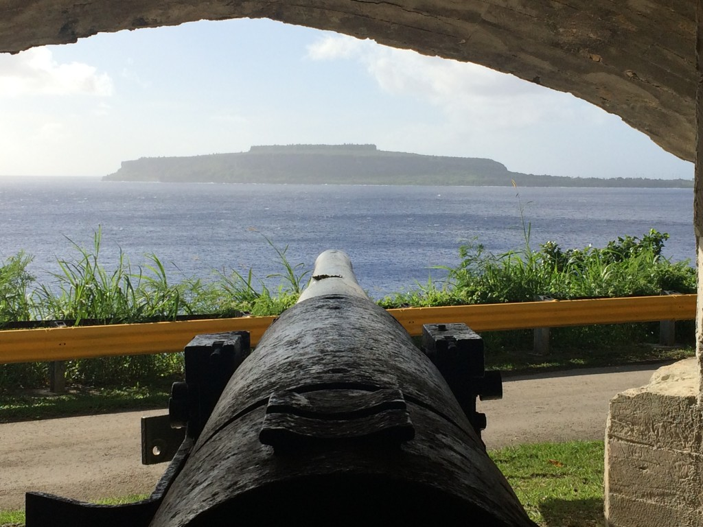 Rota, CNMI, Northern Mariana Islands, Old Japanese Cannon, wedding cake mountain