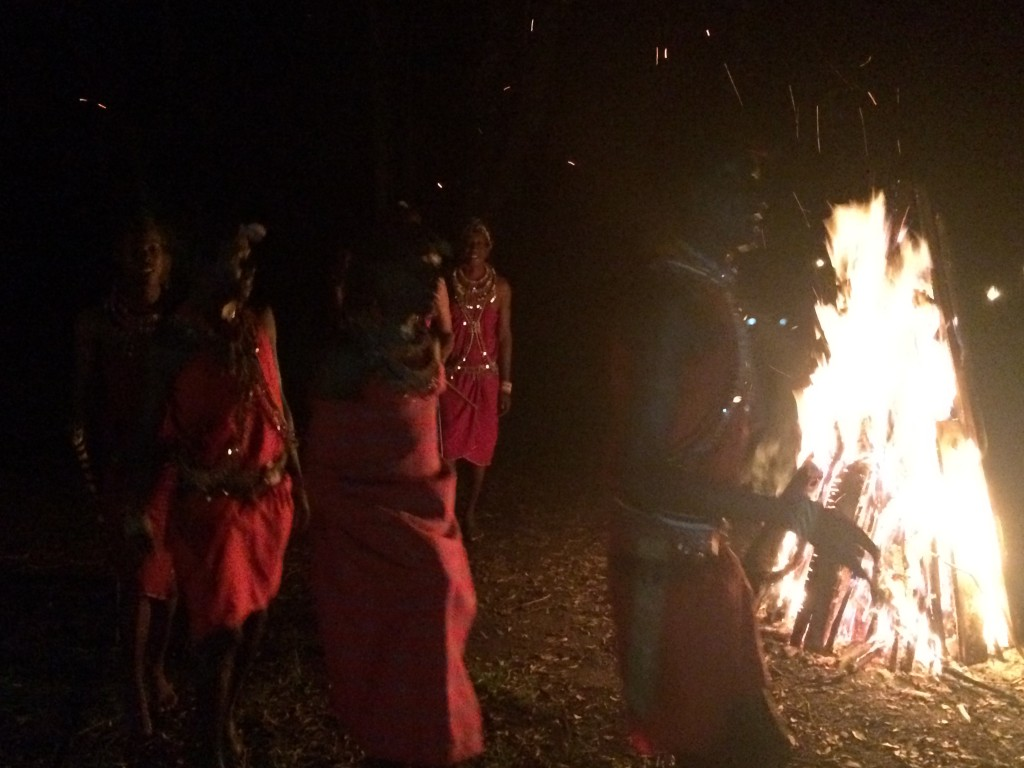 Fairmont Mara Safari Club, Fairmont, Kenya, Masai Mara, Masai Warriors, fire, bush dinner