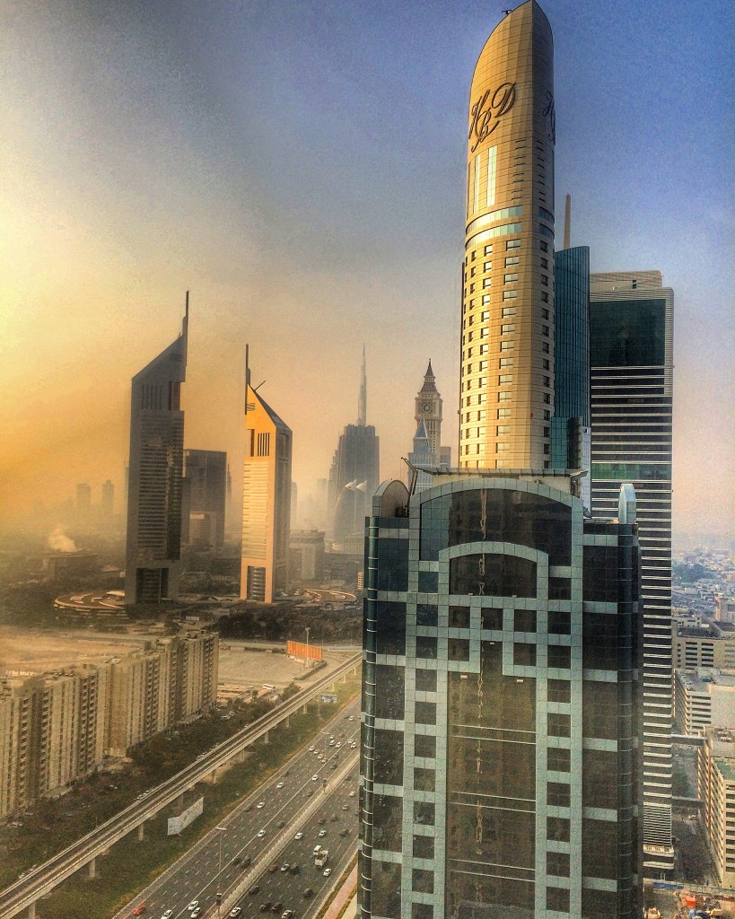 Staying on the Palm Islands of Dubai, Dubai, UAE, United Arab Emirates, Fairmont Hotels, Fairmont Dubai, view, Sheikh Zayed Road