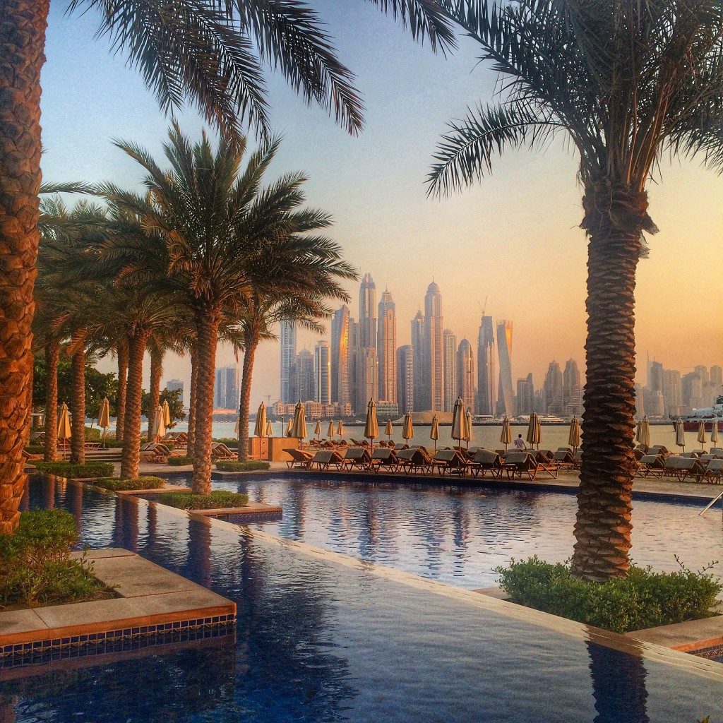 Staying on the Palm Islands of Dubai, Dubai, UAE, United Arab Emirates, Fairmont Hotels, Fairmont The Palm, view, Dubai Marina