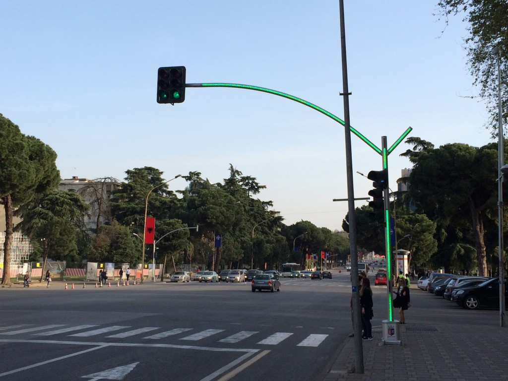 2 Days in Tirana, Albania, Tirana, traffic lights green