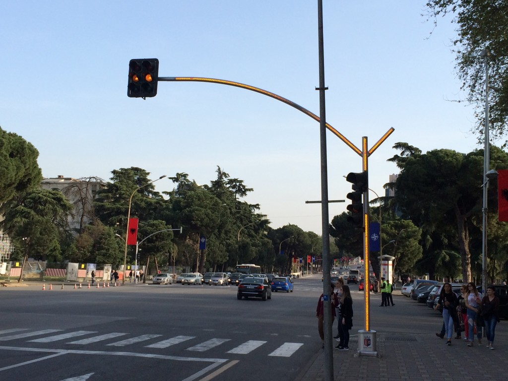 2 Days in Tirana, Albania, Tirana, traffic lights