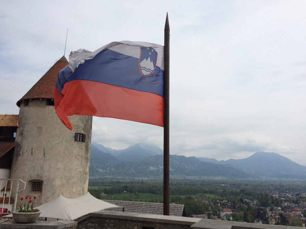 Lake Bled, Bled, flag, Slovenia, one day in Slovenia