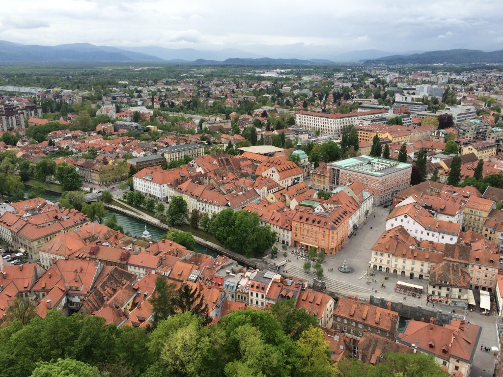 Ljubljana, Slovenia, one day in Slovenia, view of old town