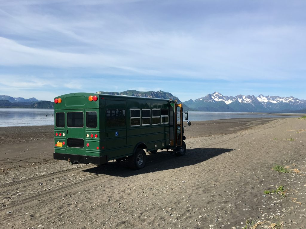 Day Trip to Lake Clark National Park, Lake Clark National Park, NPS, Alaska, bus, Rob's Wildlife
