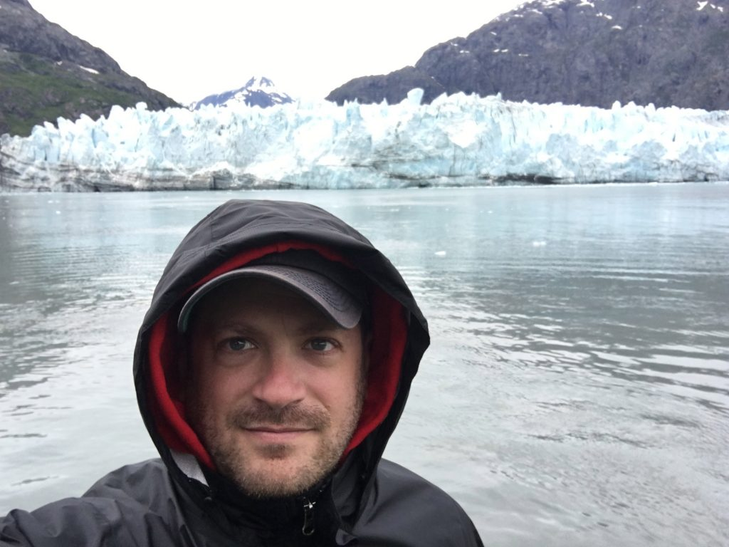 Day Cruise in Glacier Bay National Park, Glacier Bay National Park, Alaska, Gustavus, Margerie Glacier, selfie