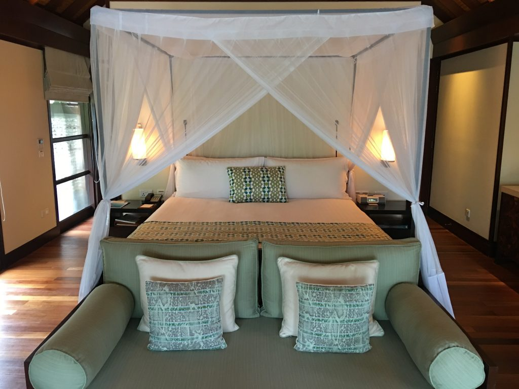 A Week on a Mega Yacht in the Maldives, Four Seasons bed
