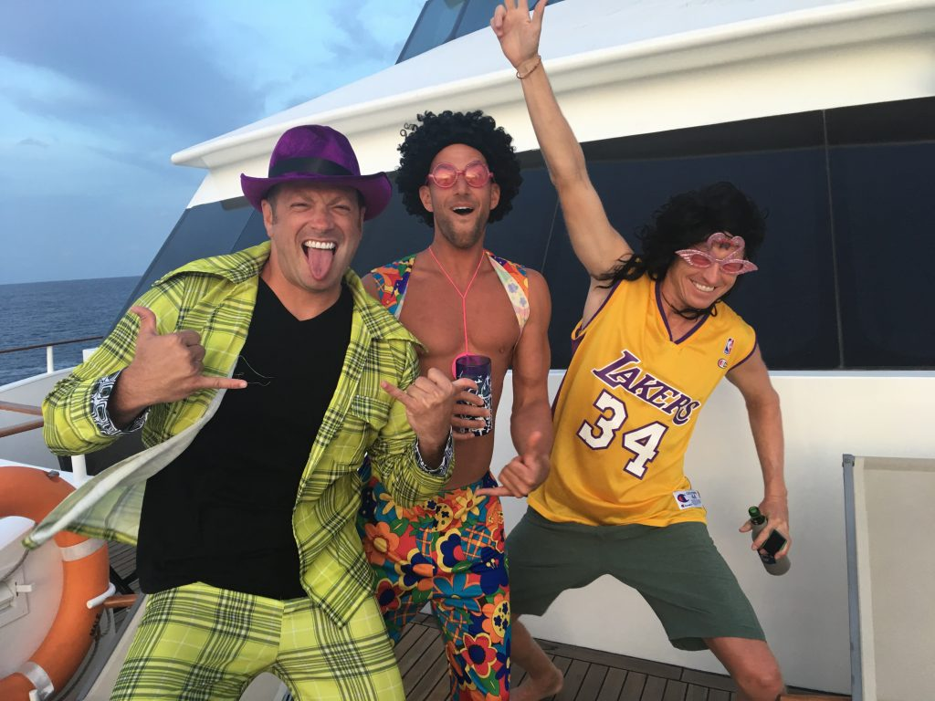 A Week on a Mega Yacht in the Maldives, costume party