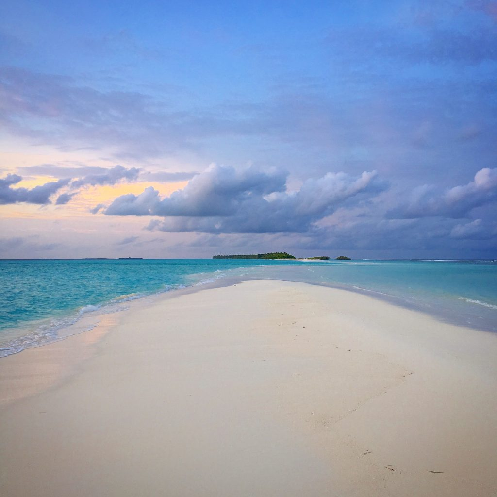 A Week on a Mega Yacht in the Maldives, sandbar