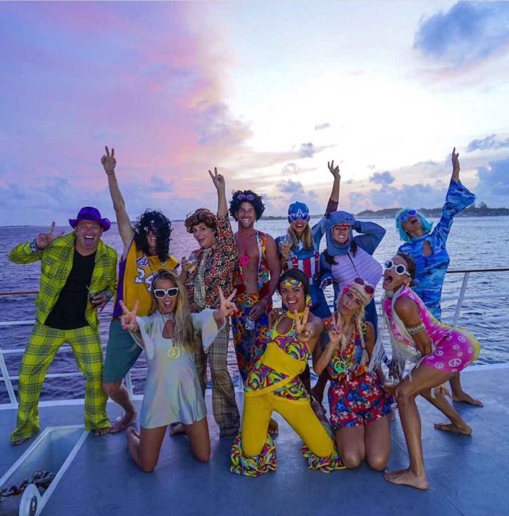 A Week on a Mega Yacht in the Maldives, costume party, Maldives