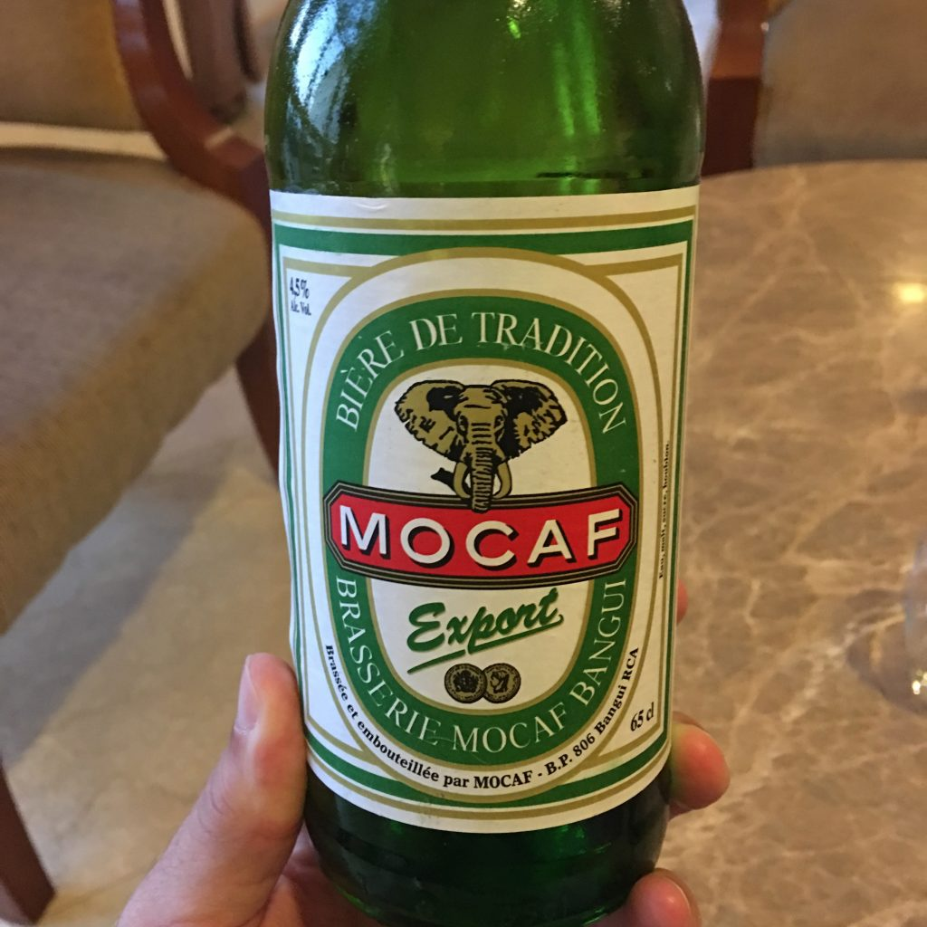My Experience in the Central African Republic, Central African Republic, Bangui, Mocaf, beer