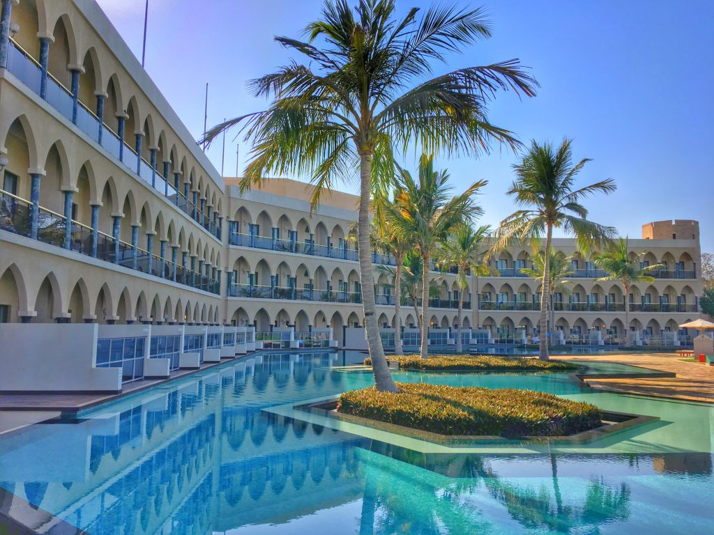 5 Awesome Things to do in Muscat, Oman, Muscat, Azamara, Middle East, Al Bustan Palace, Ritz Carlton, grounds, pool