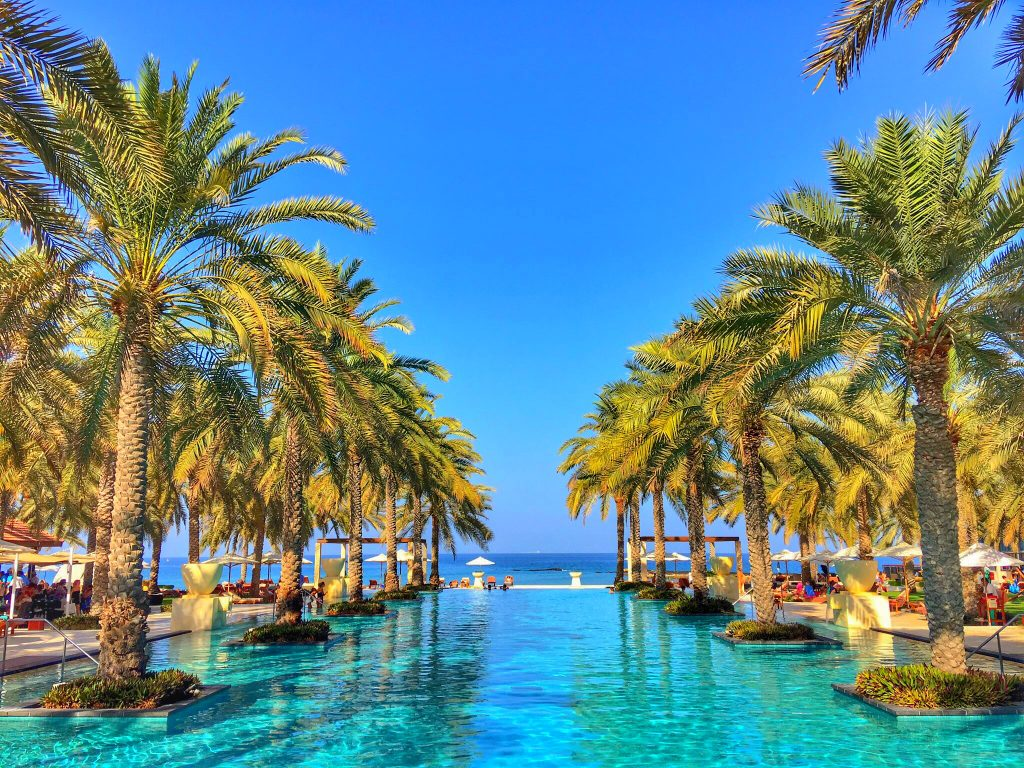 5 Awesome Things to do in Muscat, Oman, Muscat, Azamara, Middle East, Al Bustan Palace, Ritz Carlton, pool