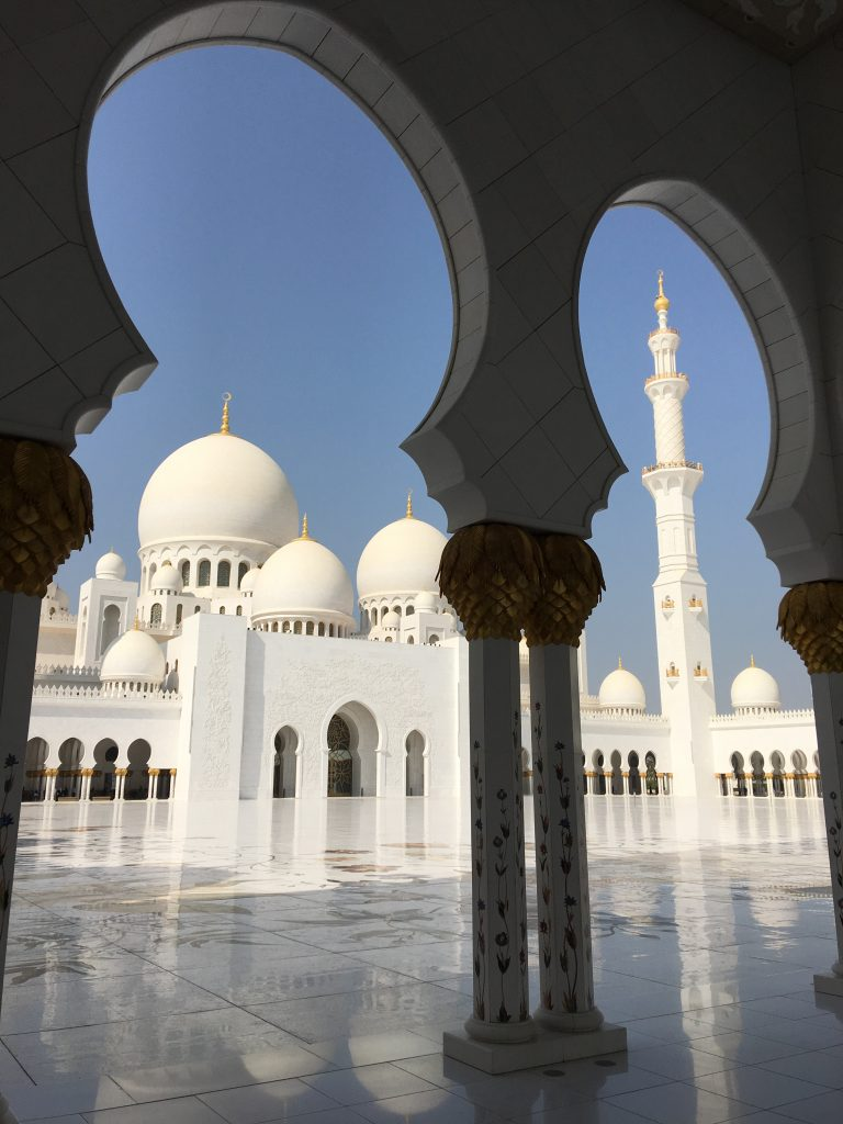 two things you must do in Abu Dhabi, Abu Dhabi, Emirates, United Arab Emirates, Sheikh Zayed Grand Mosque, Grand Mosque, mosque, angle