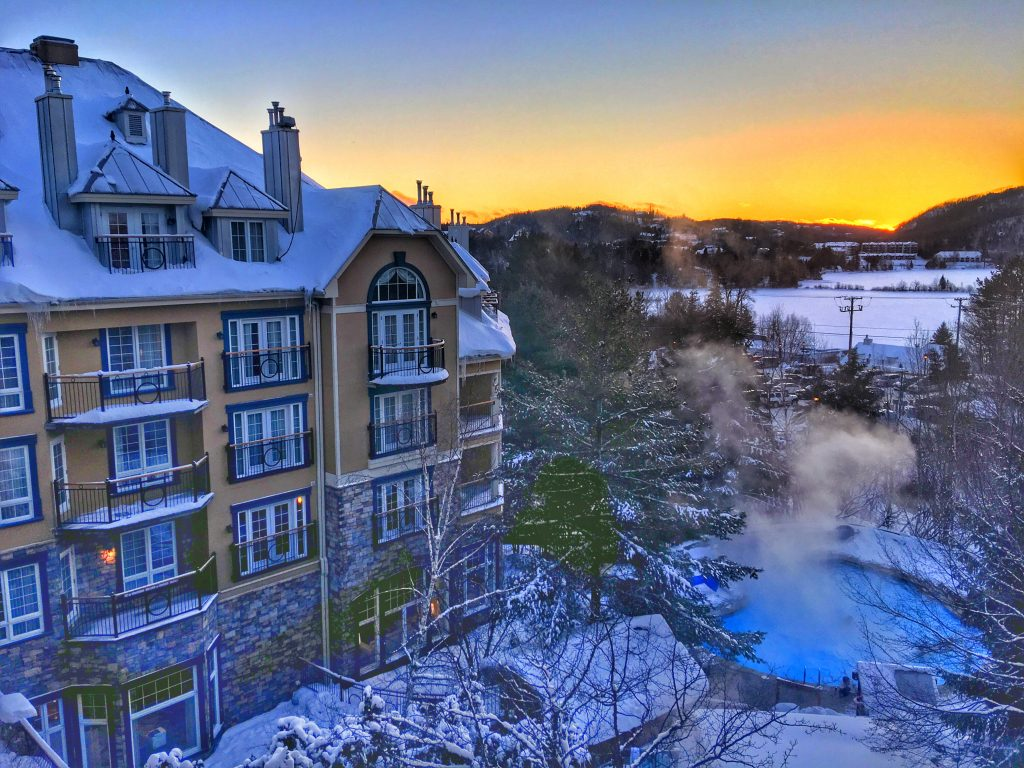 A Perfect Winter Weekend in Mont-Tremblant, Quebec, Mont-Tremblant, Mont Tremblant, Tremblant, sunset, westin