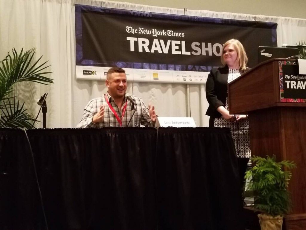 The 2017 New York Times Travel Show, New York, New York Times Travel SHow, Lee Abbamonte