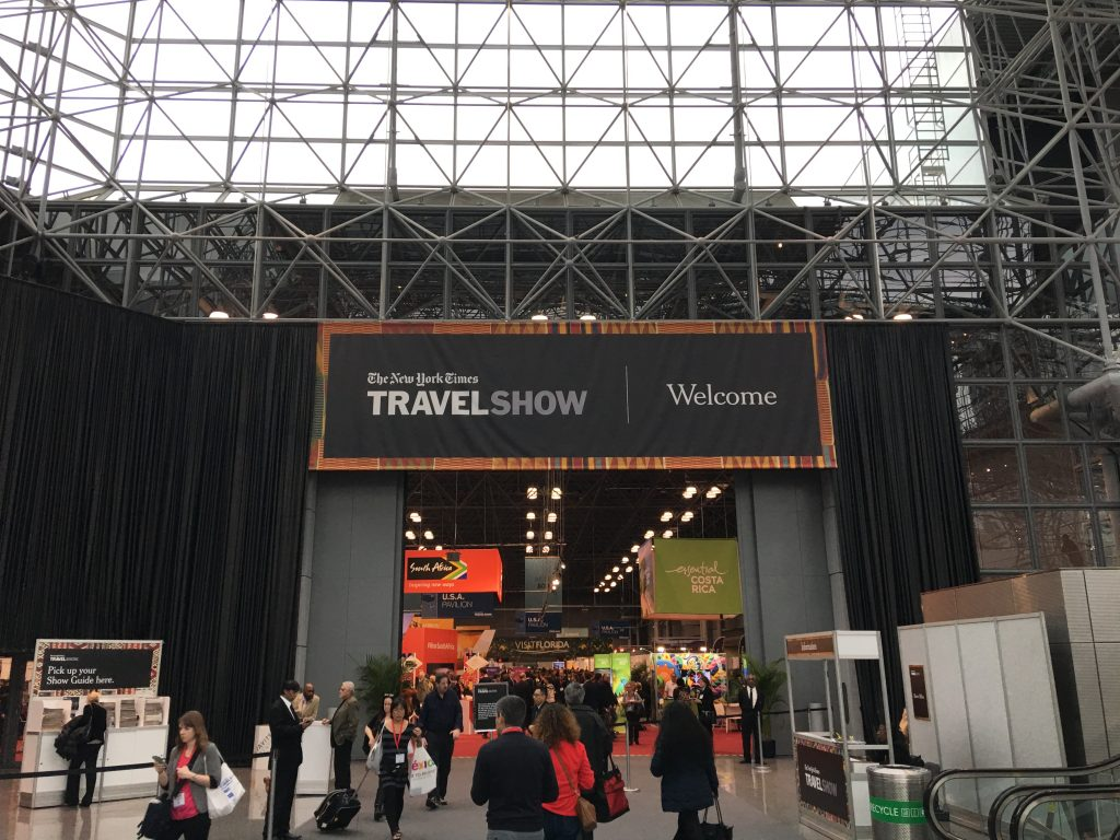 The 2017 New York Times Travel Show, New York, New York Times Travel Show, main entrance