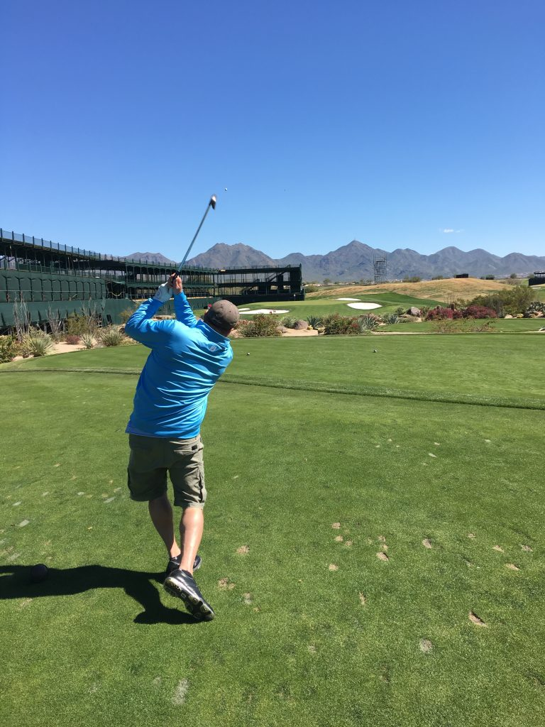 Long Weekend in Scottsdale, Scottsdale, Arizona, Phoenix. TPC Scottsdale, Golf, 16th hole