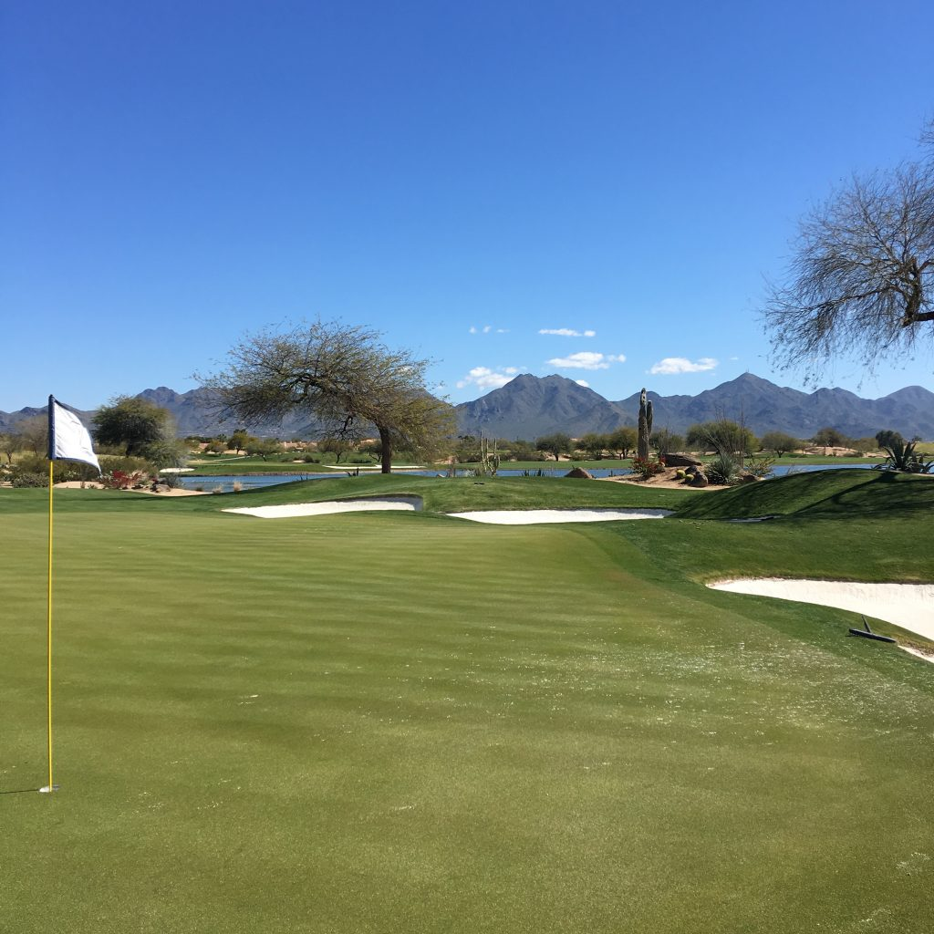 Long Weekend in Scottsdale, Scottsdale, Arizona, Phoenix. TPC Scottsdale, Golf, back Nine