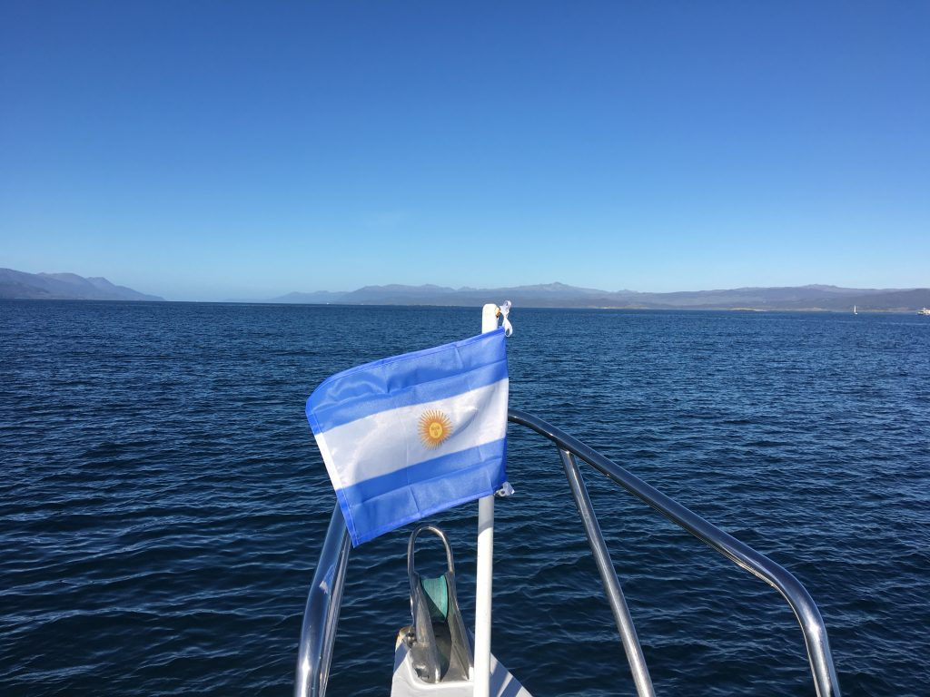 Two Days in Ushuaia, Argentina, Ushuaia, Beagle Channel Tour, Argentinian flag