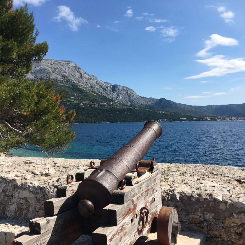 My Day in Korcula, Croatia, Korcula, cannon