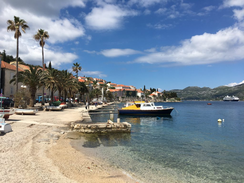 My Day in Korcula, Croatia, Korcula, beach
