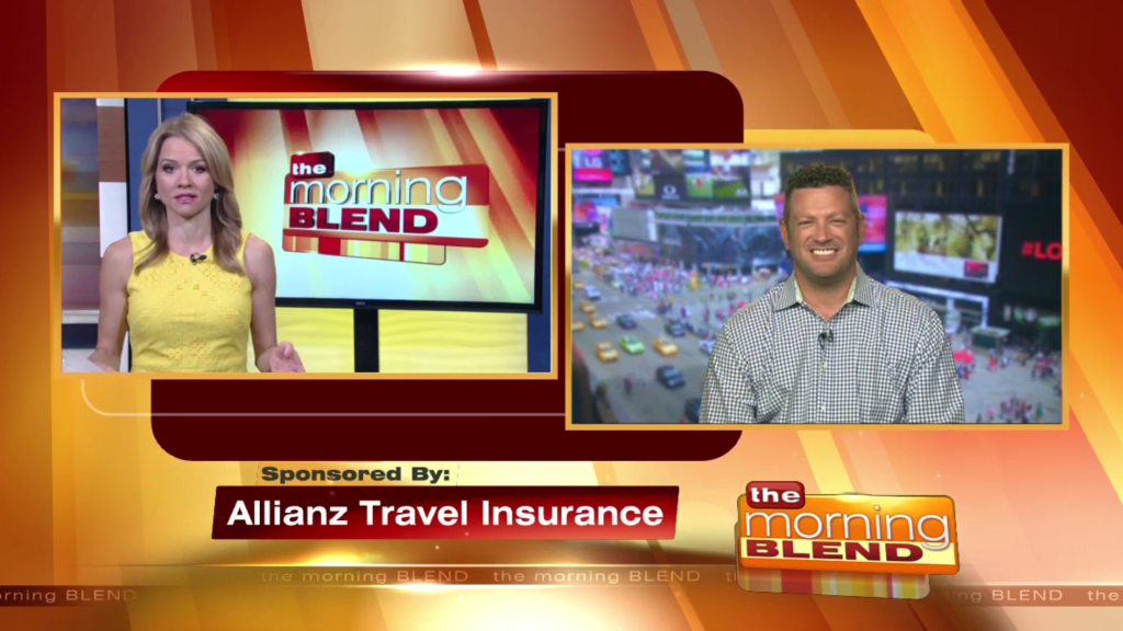 satellite media tour for Allianz Travel Insurance, SMT, satellite media tour, allianz travel insurance