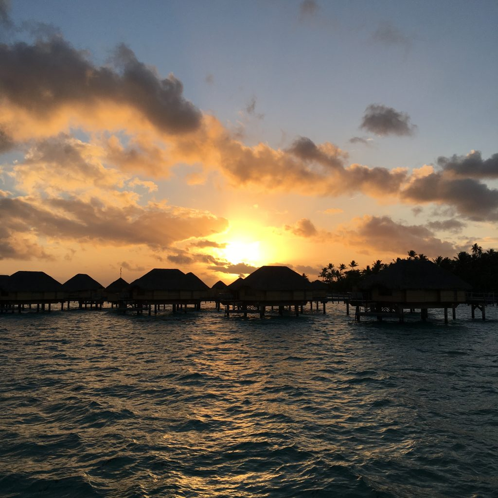 2 Days in Taha'a, Taha'a, Tahaa, Le Taha'a Island Resort, overwater bungalow, sunset