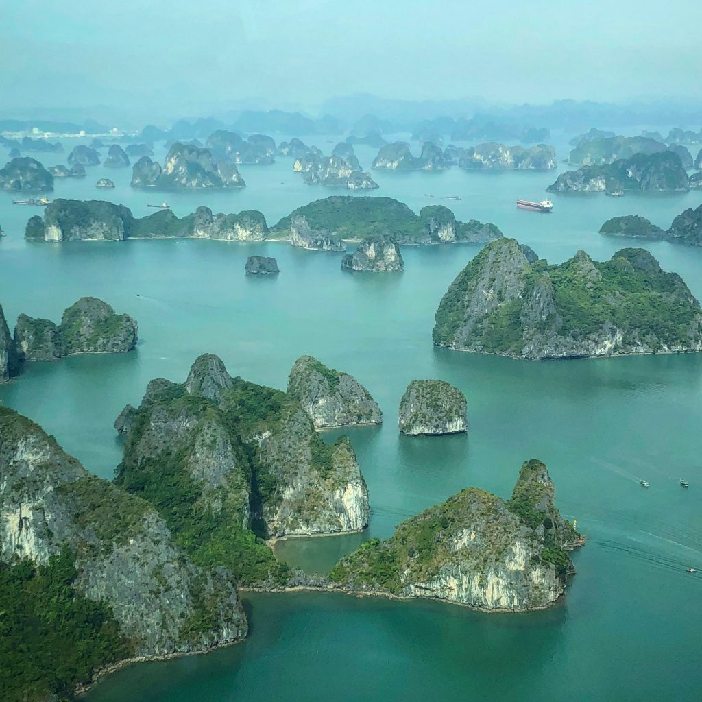 Amazing views of Ha Long Bay from the seaplane