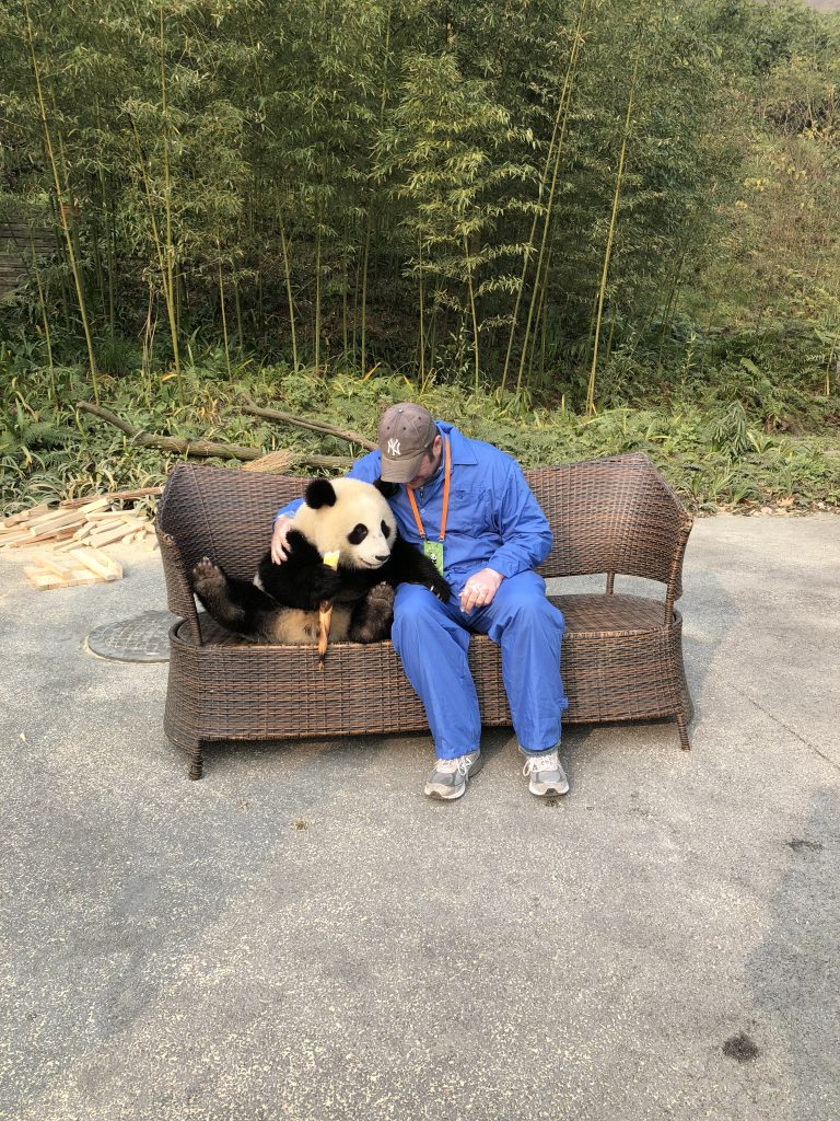 Having a moment with the panda was so much fun!