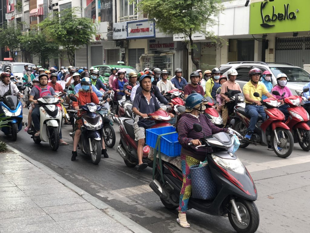 There are over 8 million motorbikes in Vietnam