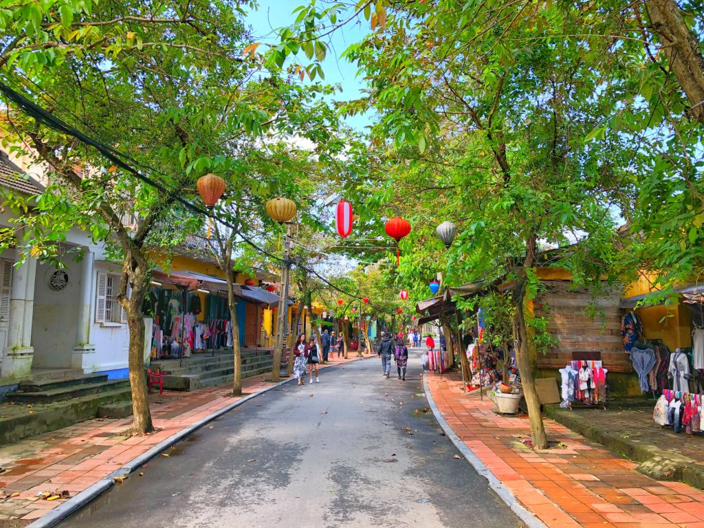 The streets of Hoi An look like the Mediterranean meets Asia