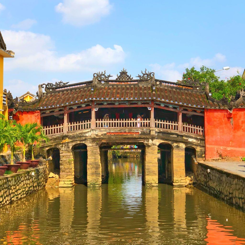 The Japanese Bridge in Hoi An is the landmark of the city