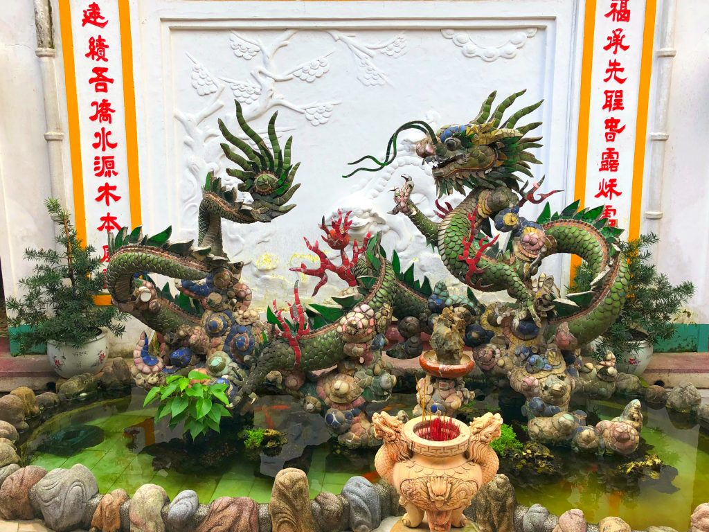 Watch out for dragons inside the temple in Hoi An