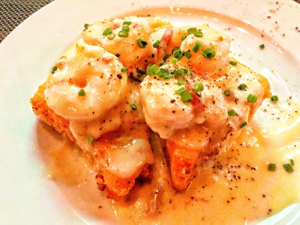 Shrimp and Grits at the Olde Pink House was truly spectacular