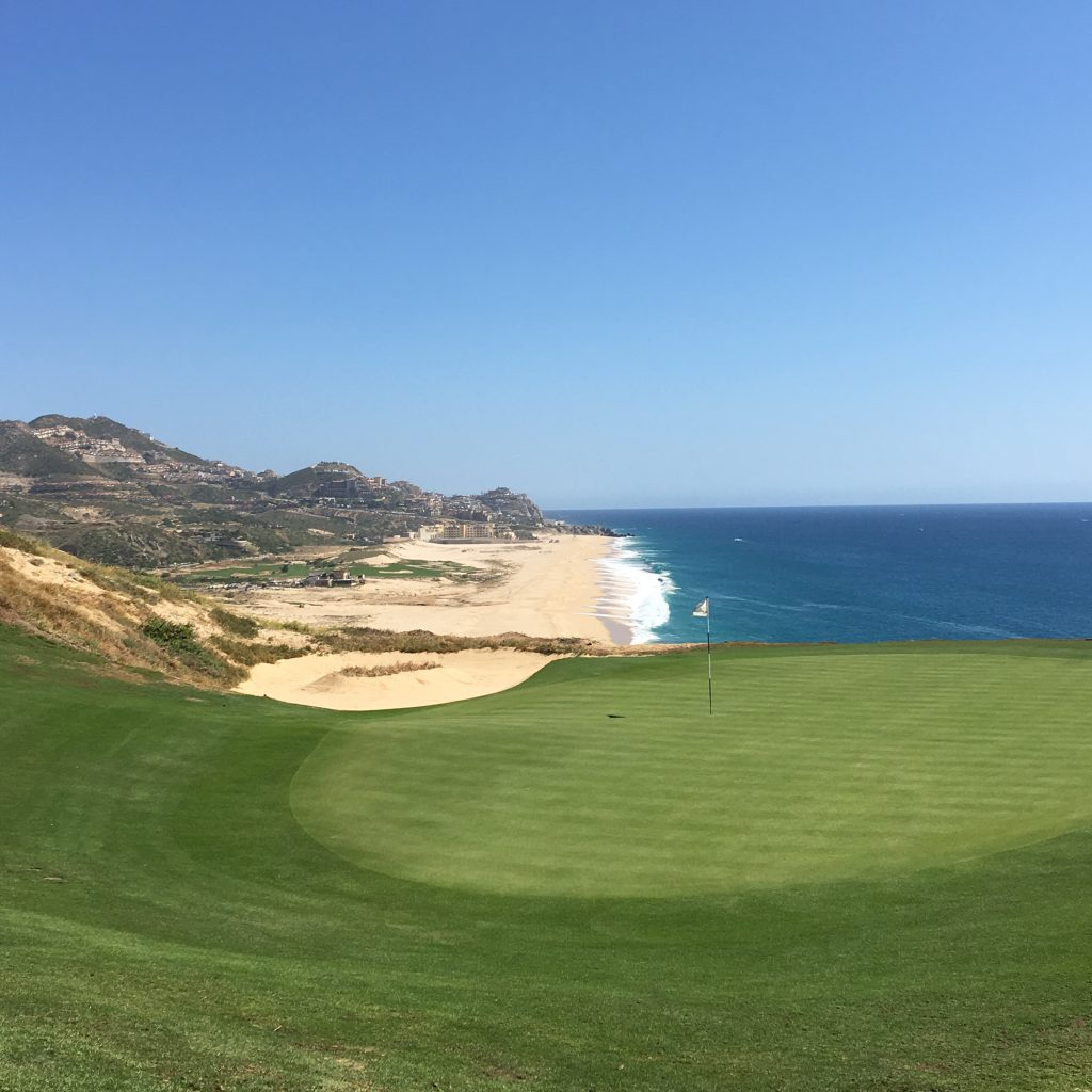 The views of the 5th green at Quivira Golf Course