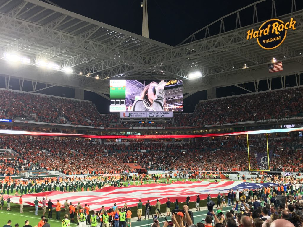 The National Anthem at Hard Rock Stadium