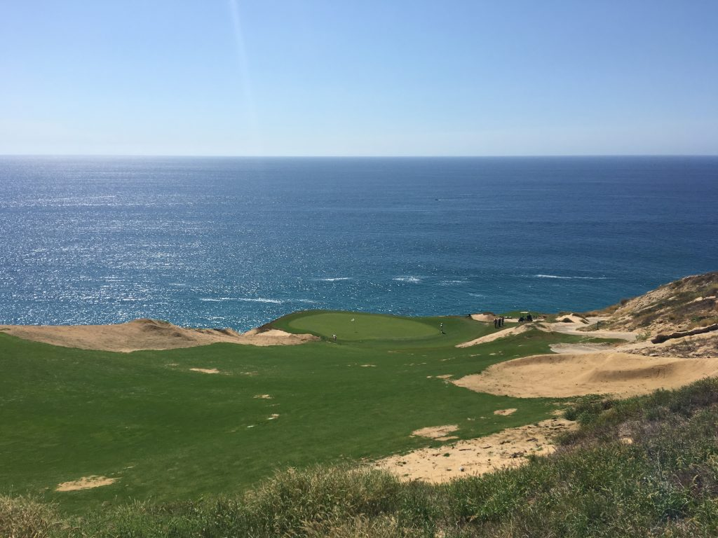 The ocean is visible from most of the holes at Quivira