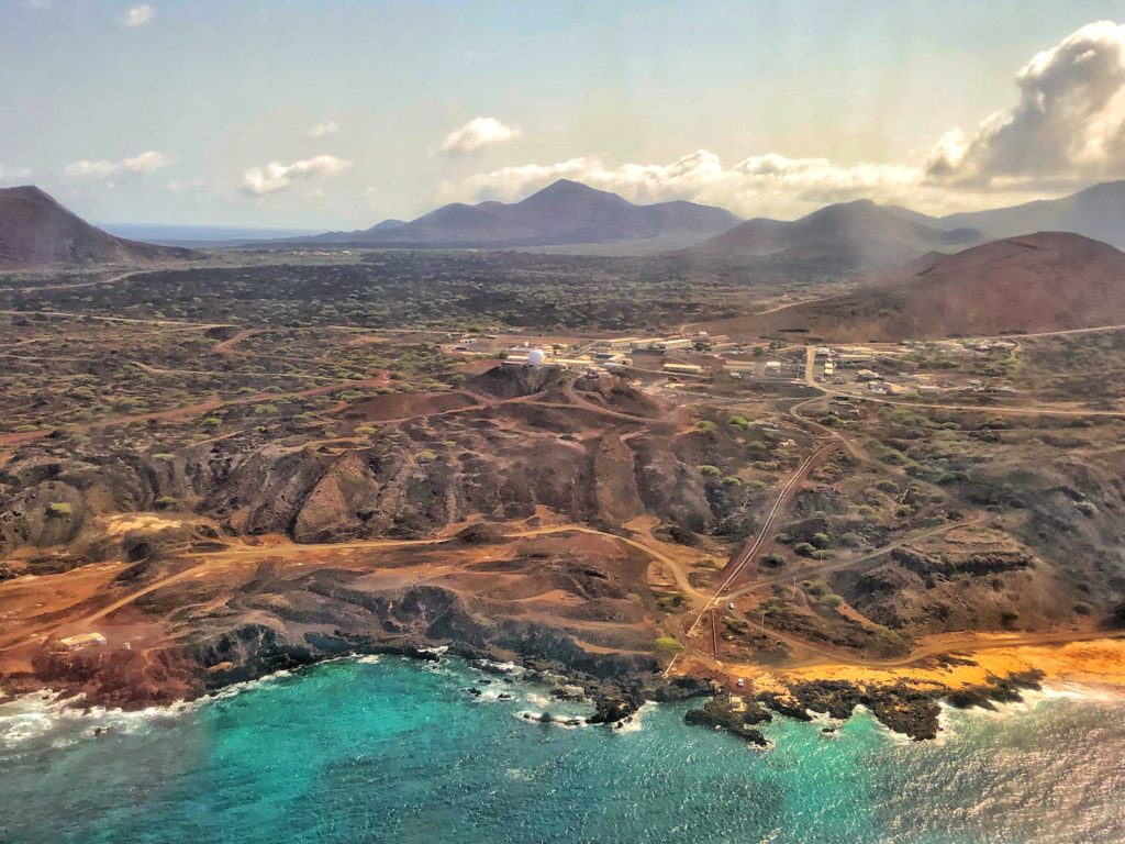 Ascension Island, Coming in for landing on Ascension Island