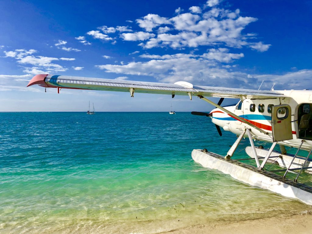 Seaplane parked at Dry Tortugas National Park
