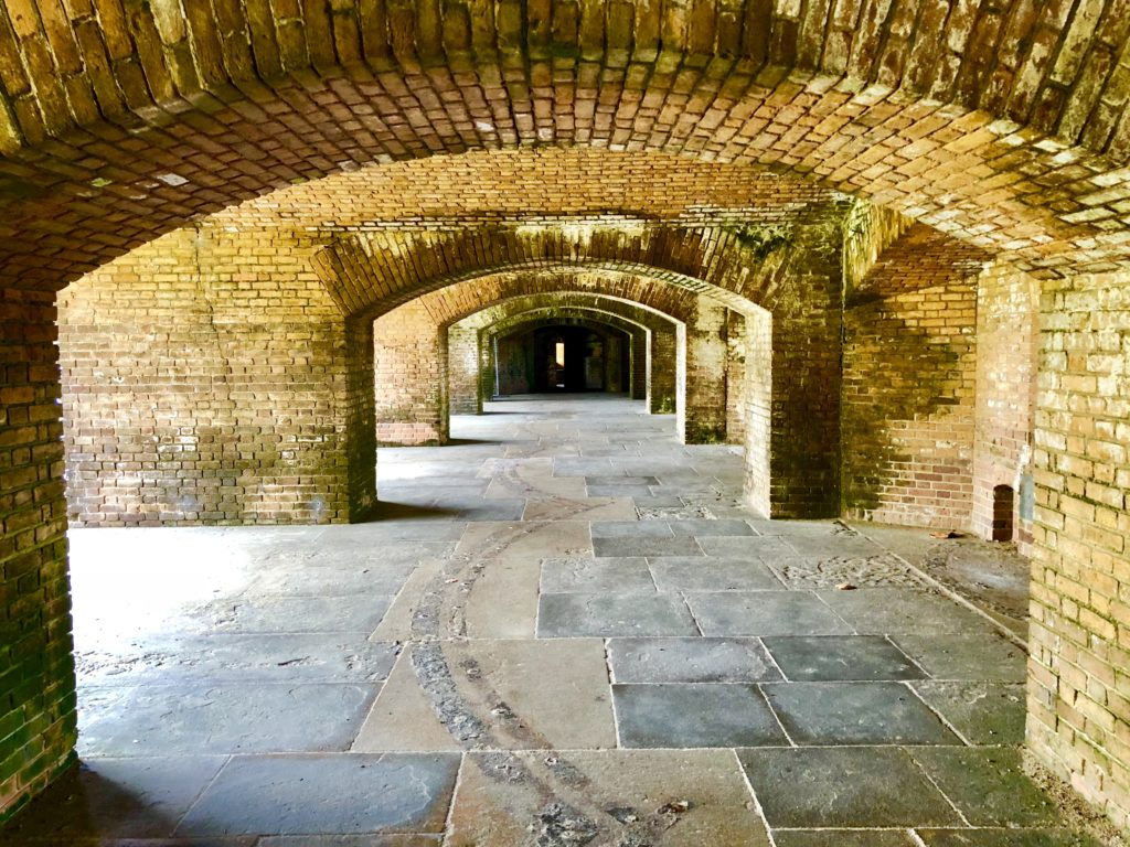 Gorgeous archways inside Fort Jefferson