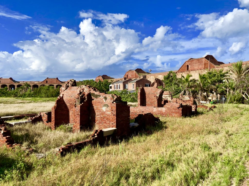 Ruins on the inside of Fort Jefferson in Dry Tortugas National Park