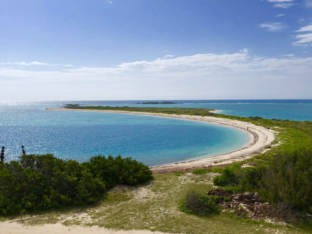 Stunning beach views from atop Fort Jefferson
