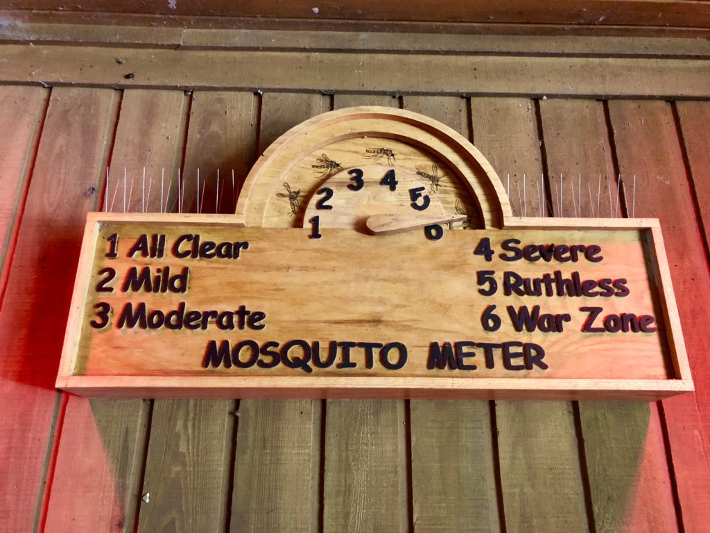 The Mosquito Meter at the Visitor Center in Congaree National Park
