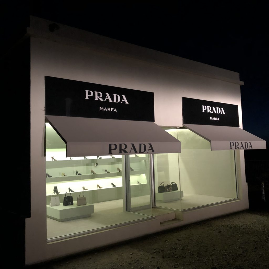Prada Marfa at night